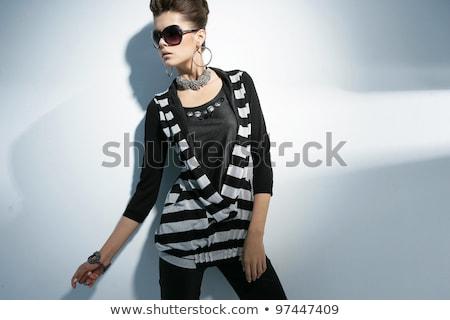 ブロンド · ファッション · モデル · サングラス · 笑みを浮かべて - ストックフォト © feedough