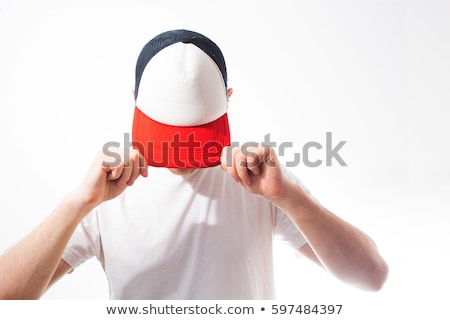 Young man wearing hat isolated on white Stock photo © Elnur