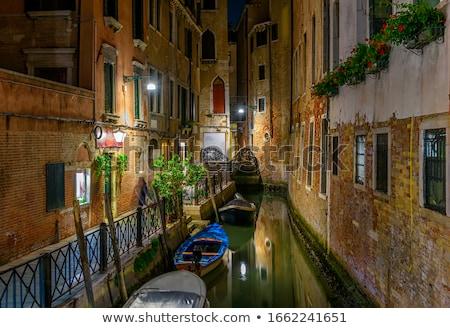 Venise Italie nuit canal eau ville Photo stock © twindesigner