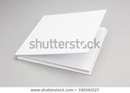 книга белый охватывать служба бумаги фон Сток-фото © hanusst