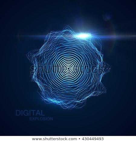 3D particelle laser Foto d'archivio © maximmmmum