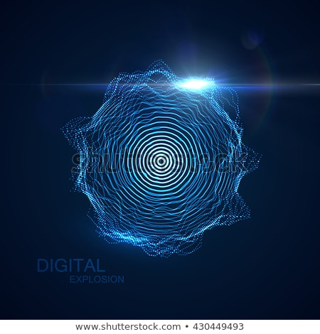 3D · частицы · футуристический · технологий · nano - Сток-фото © maximmmmum