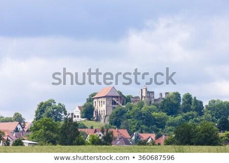 Romok kastély Csehország utazás építészet Stock fotó © phbcz