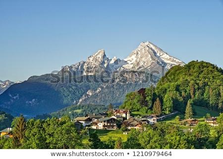 Kápolna Alpok Németország napos idő tél nap Stock fotó © w20er