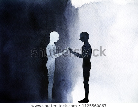 человека черный душа Scary портрет женщину Сток-фото © artfotodima