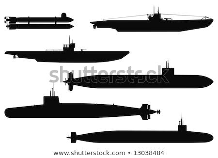 Podwodny sylwetka biały typowy świat wojny Zdjęcia stock © Bigalbaloo