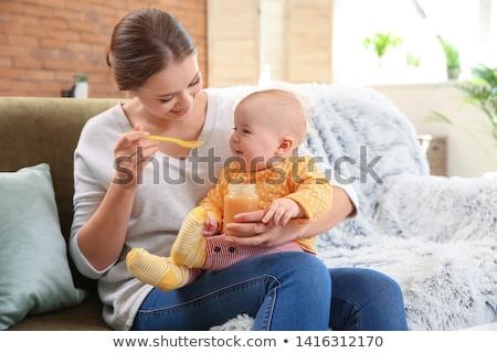 Stock fotó: Baby Female In The Jar