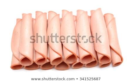 ham rolled up isolated on white Stock photo © M-studio
