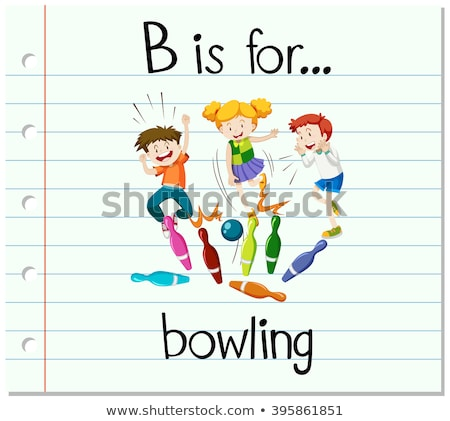 Lettera palla da bowling illustrazione ragazzi bambino sfondo Foto d'archivio © bluering