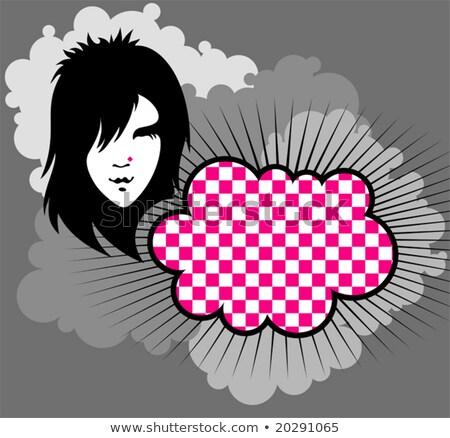 Punk cara clipart imagen hombre empresario Foto stock © vectorworks51