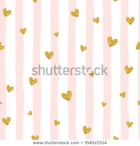 сердцах красный золото ювелирные листьев Сток-фото © blackmoon979