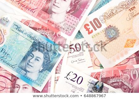 ストックフォト: 英国の · 通貨 · 孤立した · 銀行 · 注記