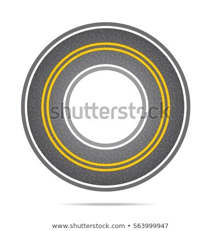 Autostrada cerchio asfalto texture rumore velocità Foto d'archivio © m_pavlov