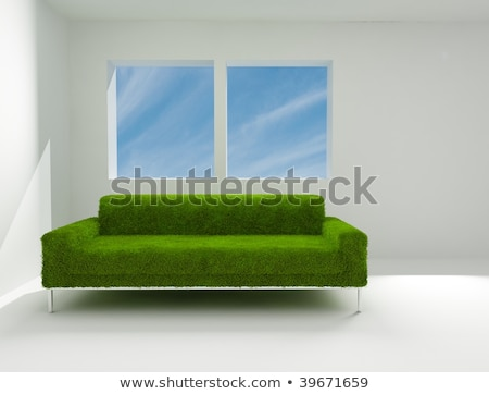 Sofa on the grass with the bright sky stock photo © rufous