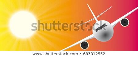 Sun Summer Sky Jet Header Stock photo © limbi007