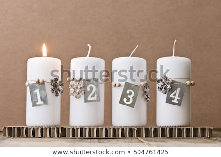 First candle burning, Advent background Stock photo © andreasberheide