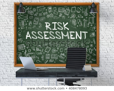 Chalkboard on the Office Wall with Assessment Concept. 3D. Stock photo © tashatuvango