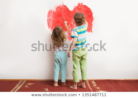 Two children drawing Stock photo © IS2