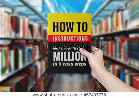 Book Title of Help and Support. Stock photo © tashatuvango