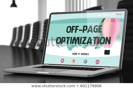 SEO Tags Optimization on Laptop in Meeting Room. Stock photo © tashatuvango