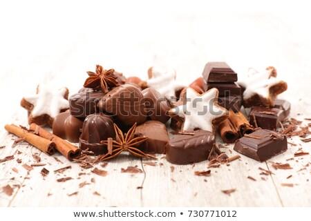 karácsony · cukorka · tányér · édesség · bögre · ital - stock fotó © m-studio
