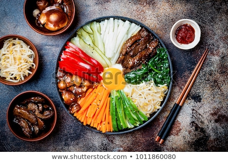 bibimbap, traditional korean dish Stock photo © M-studio