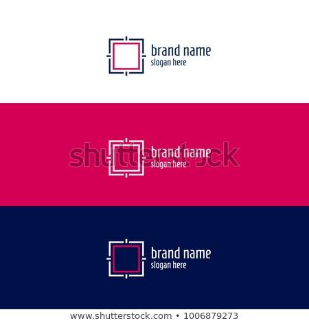 minimal geomertic square concept design Stock photo © SArts