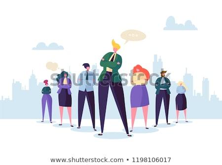 Líder multidão patrão negócio mulheres abstrato Foto stock © MaryValery