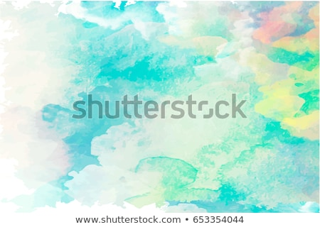 blue watercolor stain backgorund vector stock photo © sarts
