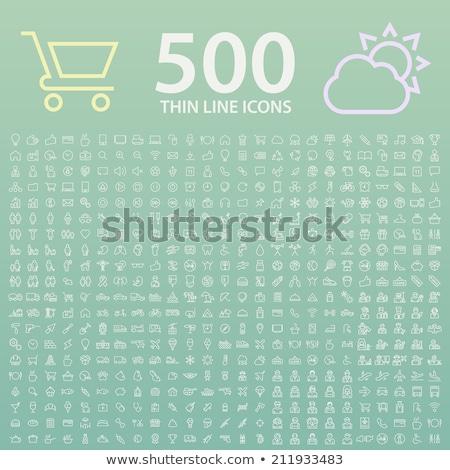 Információ jel vékony vonal vektor ikon izolált Stock fotó © smoki
