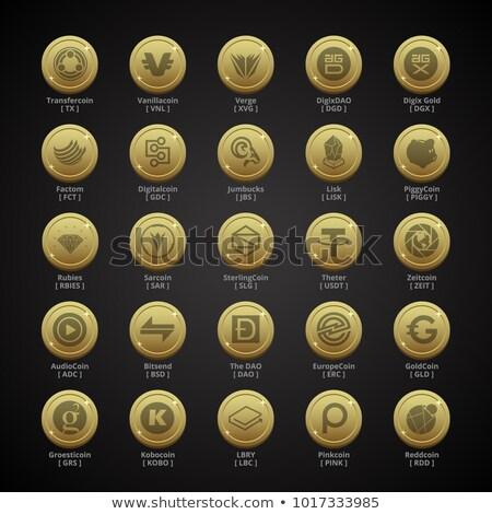 Audiocoin - Digital Currency Illustration. Stock photo © tashatuvango