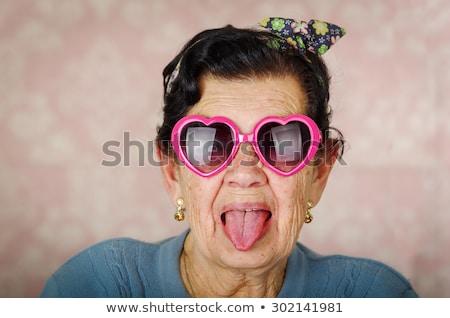 Woman wearing heartshape Stock photo © IS2