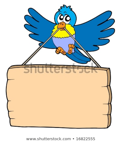 Birds Wood Bulletin Board Stock photo © lenm