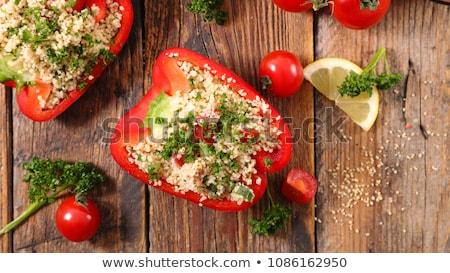 Doldurulmuş biber otlar gıda akşam yemeği yemek Stok fotoğraf © M-studio