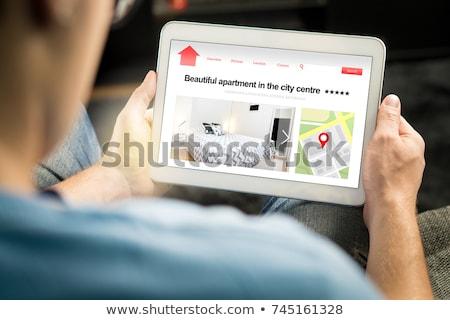 собственности · поиск · покупке · дома · три · домах - Сток-фото © lightsource