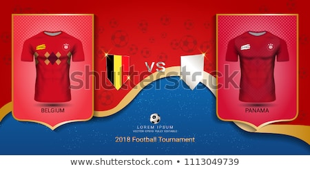Futbol maç Belçika vs Panama futbol Stok fotoğraf © Zerbor