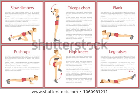 Triceps Chop Poster and Text Vector Illustration Stock photo © robuart