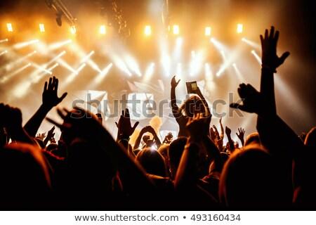 Pessoas assistindo banda etapa ilustração fundo Foto stock © bluering