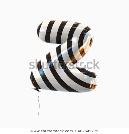 черно белые письмо z 3D 3d визуализации иллюстрация Сток-фото © djmilic