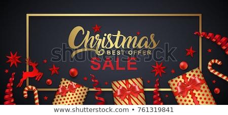 クリスマス 販売 割引 タイポグラフィ カード 木 ストックフォト © JeksonGraphics