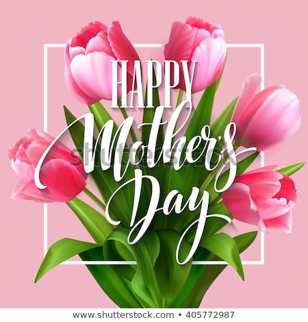 dzień · kobiet · sprzedaży · projektu · tulipan · kwiat · różowy - zdjęcia stock © natali_brill