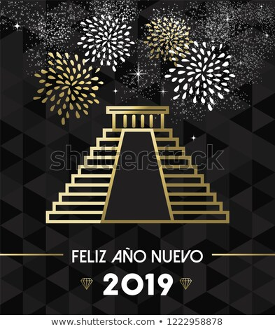 New Year 2019 mexico chichen itza travel gold Stock photo © cienpies