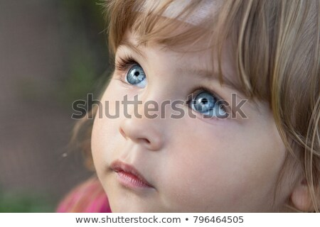 close up of beautiful child outdoors stock photo © lopolo