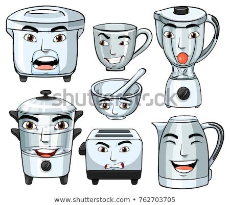 Facial expressions on many home appliances Stock photo © colematt