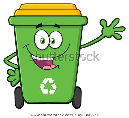 Foto stock: Feliz · verde · reciclar · aislado
