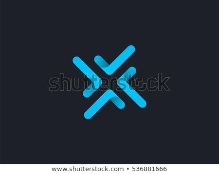 blue x logo icon letter symbol stock photo © blaskorizov