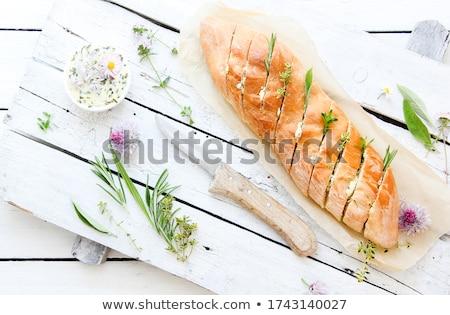 Maison baguette herbes fraîches ail Photo stock © Peteer