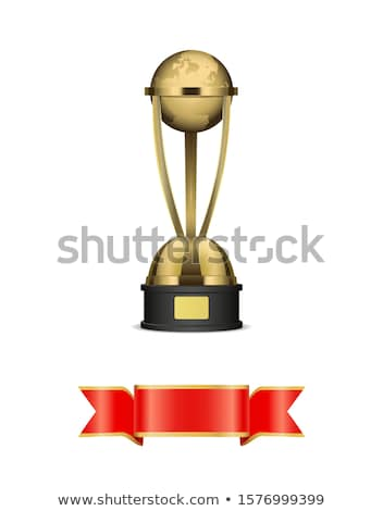 Awarding Statuette with Globe or Planet on Stand Stock photo © robuart