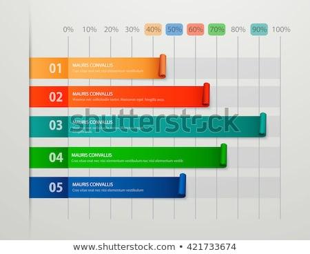 Statystyczny infografiki zdjęcie wektora wykresy szablony Zdjęcia stock © robuart