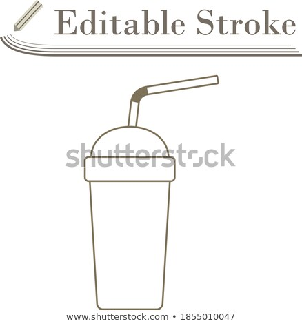 Tek kullanımlık soda fincan esnek sopa ikon Stok fotoğraf © angelp